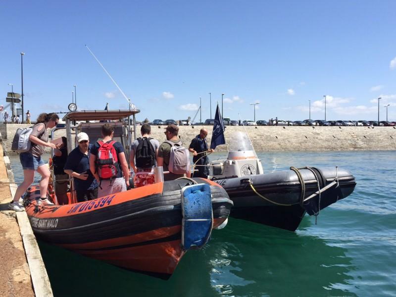 Team building rallye nautique en semi rigide dans la Baie de Saint-Malo avec Nova