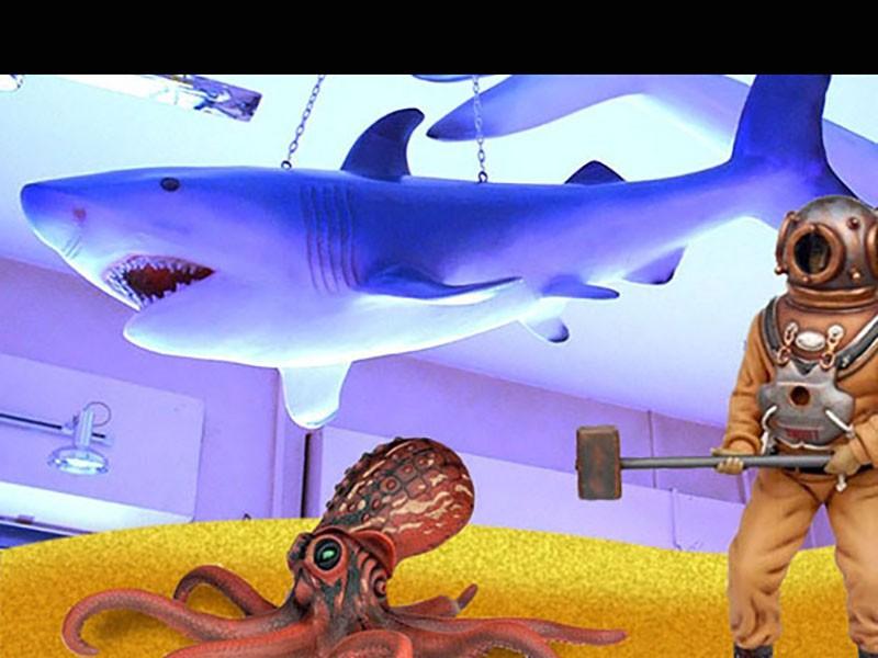 décor a thème fond marin nova loc deco sous la mer pour raconter l'histoire de jules verne