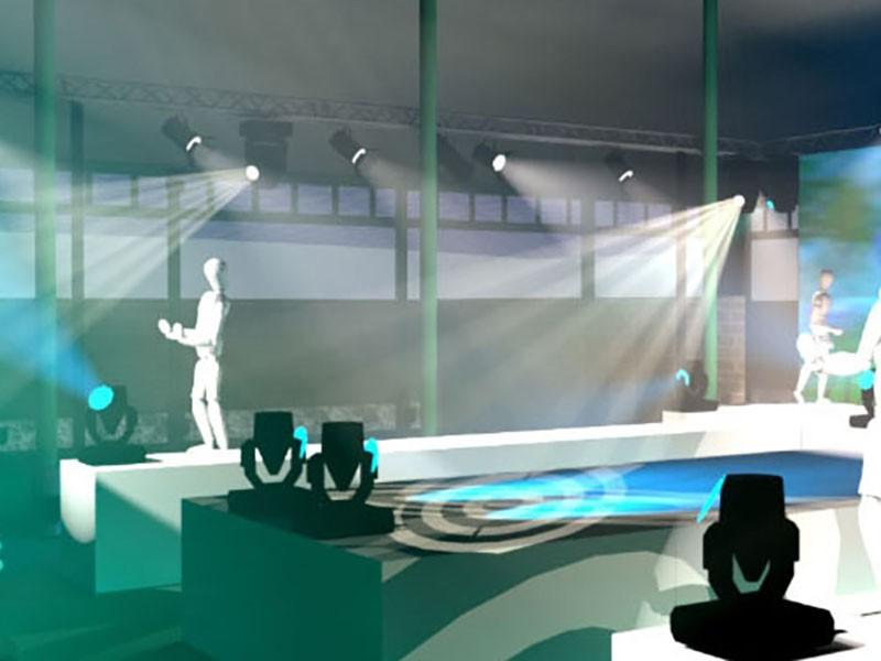 Decoration Plateau Tele : Décor scénique plateau tv pour vos soirées à thème ou