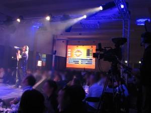 Plateau tv réalisé par Nova Animation Décor Technique réalisation au Palais du Grand Large à Saint-Malo mais aussi Caen, Vannes.