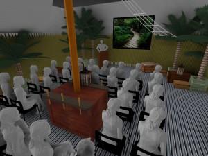 Conception de plan 3D par les spécialistes nova pour la réalisation evenement sur st malo, paris, nantes, caen