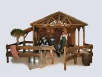 nova réalisation de décor événementiel à thème campagne, ferme, nature.