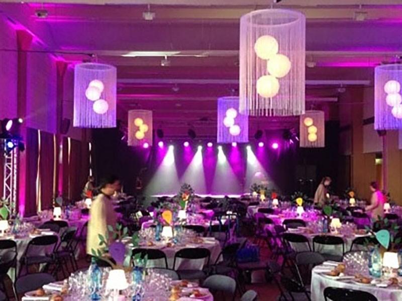 Eclairage technique nova pour soirée entreprise, convention, salon nova st malo