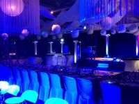 Decor a theme soirée blance nova loc déco soirée entreprise avec animation