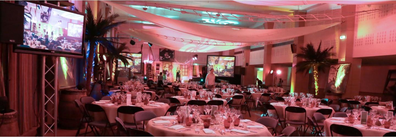 Soirée de Gala, soirée à thème, animation à thème avec ou sans décor à thème NOVA réalise des prestations clé en main